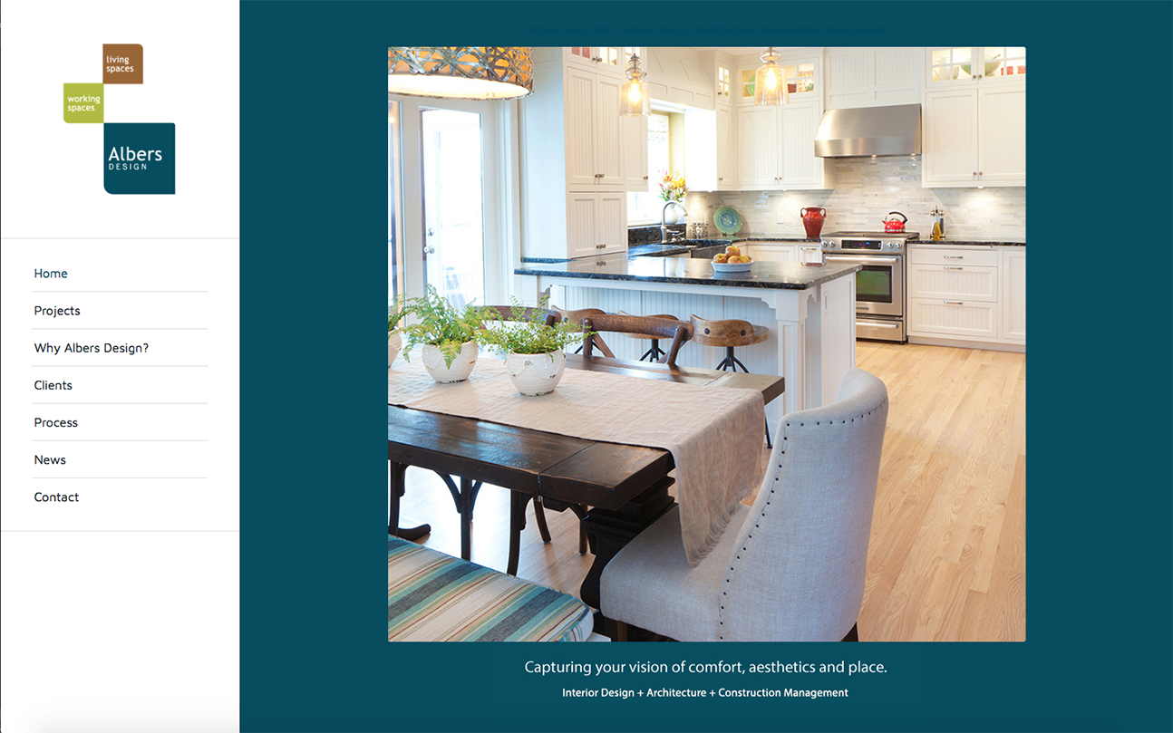 Albers Design Website by Wojack Hendrickson Design