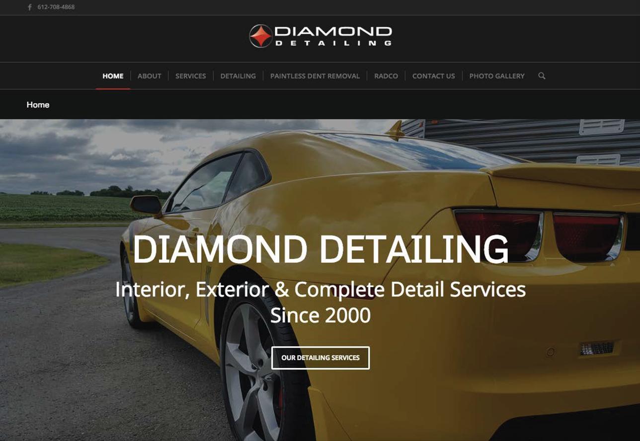 Auto Detailing Website by Wojack Hendrickson Design