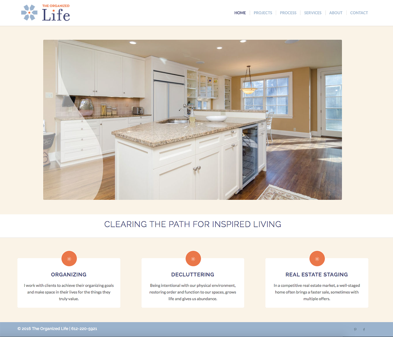 Small Business services Website by Wojack Hendrickson Design