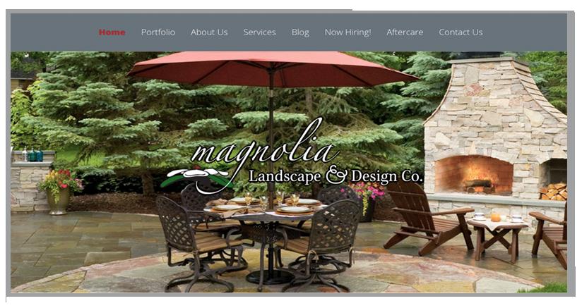 Landscape Designer website design by Wojack Hendrickson Design
